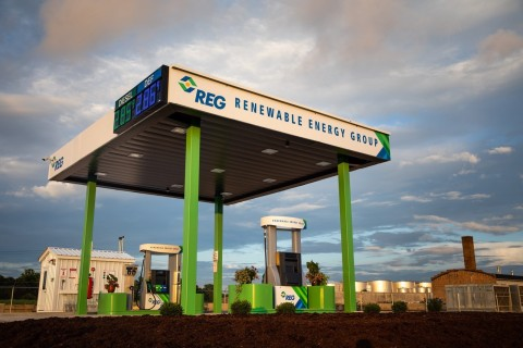 Renewable Energy Group expands business by opening company's first fueling station. (Photo: Business Wire)