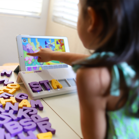 Square Panda's multisensory playset interacts with tablets to create a learning playground that helps children build reading skills. (Photo: Business Wire)