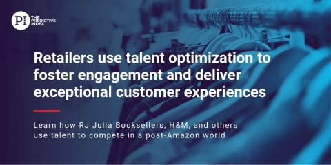 H&M, RJ Julia Booksellers, Tempur-Pedic, Nissan, CarSense, Mattel, and '47 Brands Among Other Retailers Engage Top Talent, Hire Effectively, and More with Talent Optimization by The Predictive Index (Graphic: Business Wire)