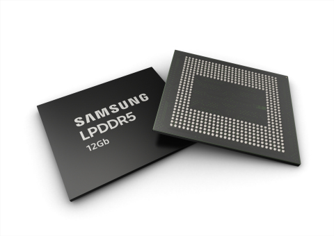 Samsung 12Gb LPDDR5 mobile DRAM (Photo: Business Wire)
