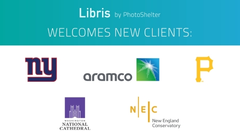 Libris by PhotoShelter welcomes new clients including the New York Giants, Aramco, Pittsburgh Pirates, Washington National Cathedral and the New England Conservatory. (Graphic: Business Wire)