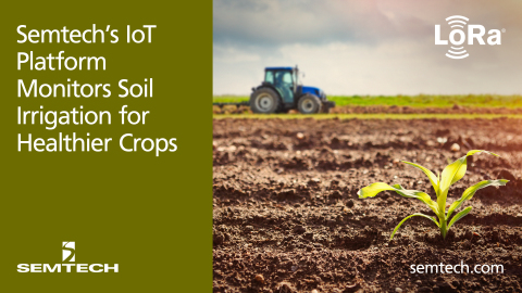 LoRa and soil irrigation (Graphic: Business Wire)