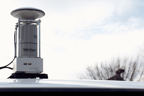 Kaarta's new Stencil 2-32 ground surface mapping solution includes Velodyne's smart, powerful lidar technology. (Photo: Business Wire)