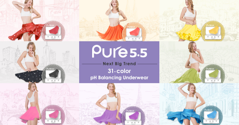 Pure 5.5, 31 vibrant color underwear and your skirts are a match made in heaven. (Photo: Business Wire)