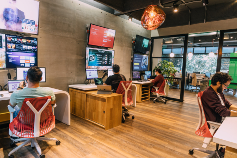 Zemoga's Device Lab, located in the firm's Bogota HQs (Photo: Business Wire)
