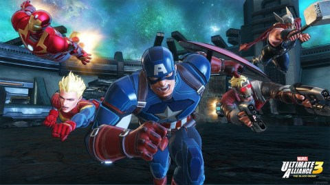 MARVEL ULTIMATE ALLIANCE 3: The Black Order involves a huge cast of Marvel Super Heroes that includes Spider-Man, Captain Marvel, Iron Man, Captain America, the Avengers, Guardians of the Galaxy and X-Men, to name just a few. Players can team up with friends to prevent galactic devastation at the hands of the mad cosmic tyrant Thanos and his ruthless warmasters, The Black Order. (Graphic: Business Wire)