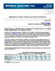 Republic Bancorp, Inc. Reports a 15% Increase in Second Quarter 2019 Net Income