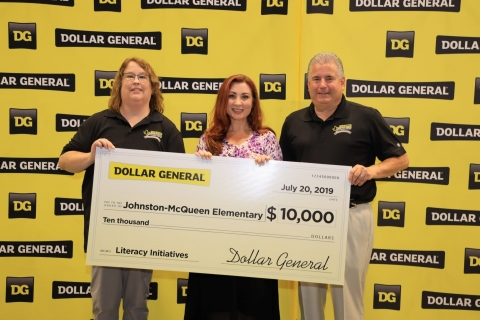 Dollar General presented a $10,000 donation to Johnston-McQueen Elementary School as part of its commitment to support the Longview community and its mission of Serving Others. (Photo: Business Wire)