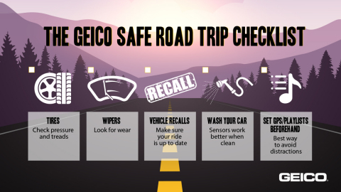 GEICO infographic with safe driving tips for road trips (Graphic: GEICO)