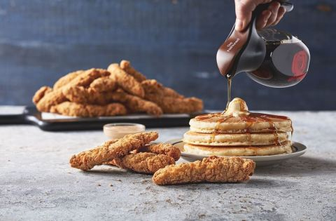 Building on its winning all-day menu, IHOP has launched Buttermilk Crispy Chicken and Pancakes, Sandwiches and more, made with all-natural chicken breasts and a signature seasoning blend. (Photo: Business Wire)