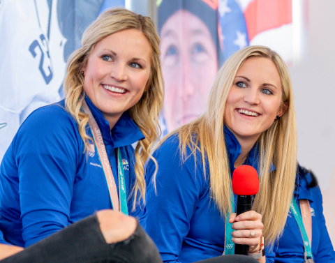 Jocelyne and Monique Lamoureux, U.S. Women's Ice Hockey team members and Olympic gold medalists, launch foundation to benefit underserved children. (Photo: Business Wire)