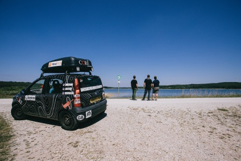 Team No Reservations' 1.1 liter Fiat Panda with Kingston logo (Photo: Business Wire)
