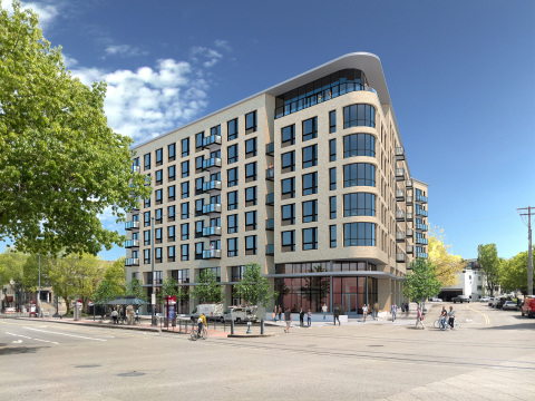 Rendering of the new Greystar development in Goose Hollow. (Graphic: Business Wire)
