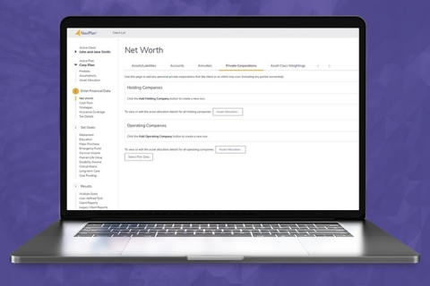 The new and expanded Private Corporations functionality in NaviPlan (Photo: Business Wire)