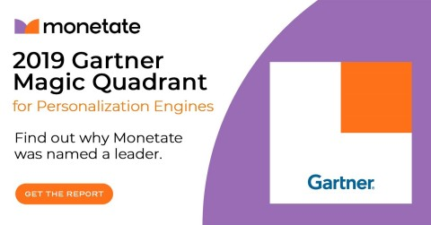 2019 Gartner Magic Quadrant for Personalization Engines | Find out why Monetate was named a leader. | Get the report here: http://bit.ly/2SvC9Jh (Photo: Business Wire)