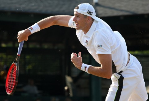 John Isner partners with DEFY as the first CBD sponsorship in pro tennis. (Kate Lucey / International Tennis Hall of Fame)