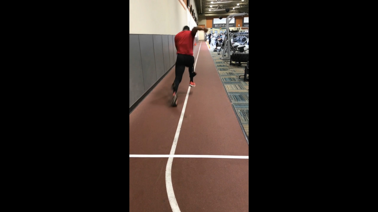 30-meter Sprint test for The Next Olympic Hopeful tryouts held recently in 24 Hour Fitness clubs nationwide