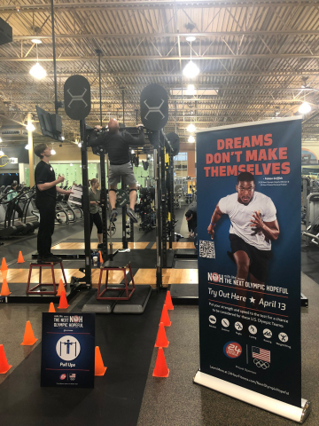 Pull Up test for The Next Olympic Hopeful tryouts held recently in 24 Hour Fitness clubs nationwide (Photo: Business Wire)
