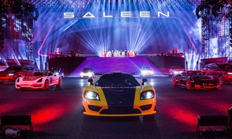 """Over 24,000 people attended a """"Saleen Night"""" event at """"Bird's Nest"""" National Stadium in Beijing, celebrating the arrival of the Saleen brand in China. The company unveiled a new Steve Saleen-designed SUV model scheduled for production and distribution in China, starting in 2020. (Photo: Business Wire)"""
