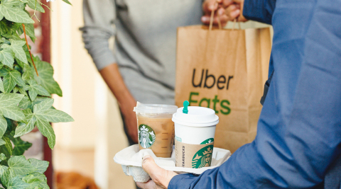 Starbucks continues expansion in partnership with Uber Eats (Photo: Business Wire)
