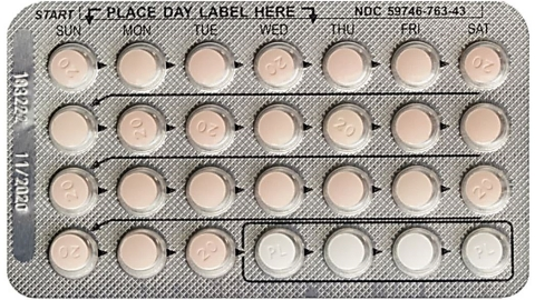 Drospirenone and Ethinyl Estradiol Tablets USP, 3 mg/0.02 mg Blister Card Front showing lot number, expiry date, NDC number, and tablet configuration. (Photo: Business Wire)