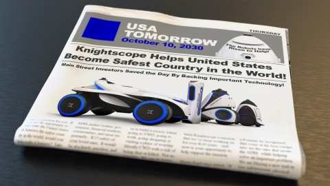 Knightscope envisions a safer America with Security Robots. (Graphic: Business Wire)