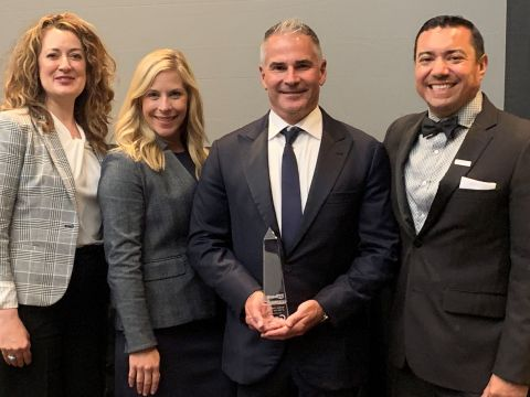 Heather Olson (NMSDC), Kara King (GSG), John Henning (GSG) and Hector Martinez (US Bank) at the award ceremony on July 23 2019. (Photo: Business Wire)