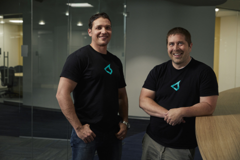 Murad Kablan, Stateless CEO, and Eric Keller, Stateless CTO, in the company's new 17,000 square foot headquarters facility in Boulder, Colorado. (Photo: Business Wire)