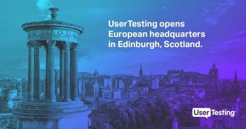 UserTesting Edinburgh, Scotland Launch 2019 (Graphic: Business Wire)