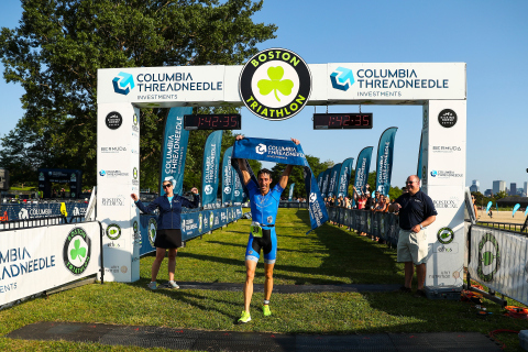 Matthew Alford of Coventry, Rhode Island was the fastest male finisher at the 2019 Columbia Threadneedle Investments Boston Triathlon. Photo Courtesy of Columbia Threadneedle Investments Boston Triathlon