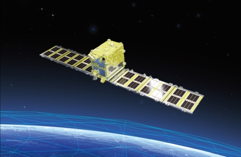 """""""StriX-α"""" the first demonstration satellite (Graphic: Business Wire)"""
