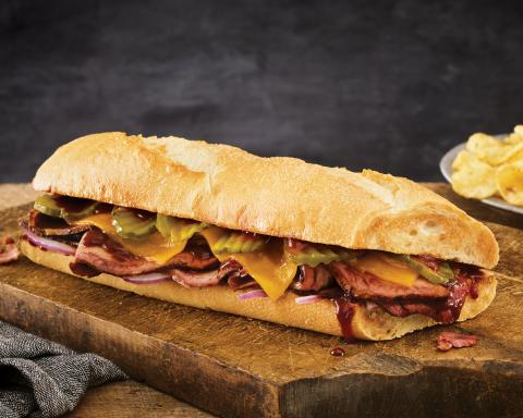 Quiznos' Pit-Smoked Brisket Sandwich (Photo: Business Wire)