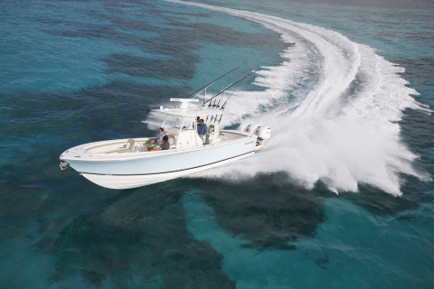 Regulator Marine has selected Garmin to be its premier electronics supplier to outfit its full line of offshore sportfishing center console boats beginning model year 2020. Garmin electronics will be standard equipment on all Regulator boats, which range from 23 to 41 feet. (Photo: Business Wire)
