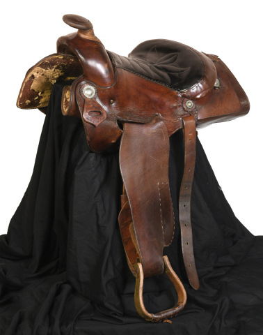 Lot 216. 1967 Elvis Presley's Graceland Saddle Made by Mike McGregor $20-30,000 (Photo: Business Wire)