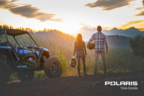 """Think Outside"" reflects Polaris' pioneering approach to advance how consumers work and play outside. (Photo: Polaris)"