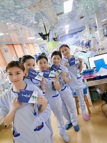 In China, nurses were reached through in-center celebrations and the social media channel WeChat. (Photo: Business Wire)