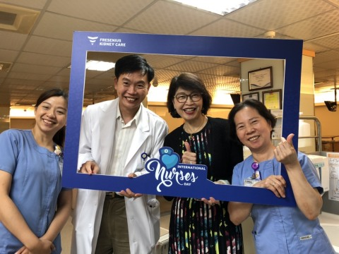 Respective countries' management team members of Fresenius Kidney Care visited the clinics to show appreciation to the nurses. (Photo: Business Wire)
