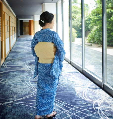 "The intangible cultural property ""nagaitachugata"" yukata, the casual kimono, using indigo-dye will be displayed as a part of the cultural exhibition entitled ""Staying Cool in Summer - Japanese Wisdom and Beauty"". (Photo: Business Wire)"