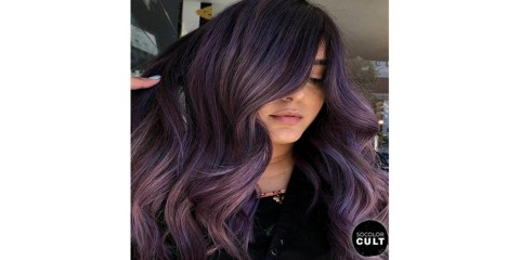Smoky Purple Hair Color (Credit: @cxsglam)