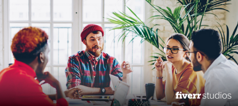 For the first time Fiverr Studios offers freelancers a new way to collaborate and form teams to tackle larger and more complex assignments for businesses across the world.(Photo: Business Wire)