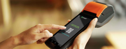 POSaBIT's handheld mobile payments solution for the cannabis industry (Photo: Business Wire)