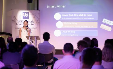 Helen Zhang introducing UCK Smart Miners