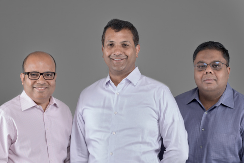 Confluera Founders, from left to right: Bipul Sinha, Co-founder and Chairman; Abhijit Ghosh, Co-founder and CEO; and, Niloy Mukherjee, Co-founder and Chief Architect (Photo: Business Wire)