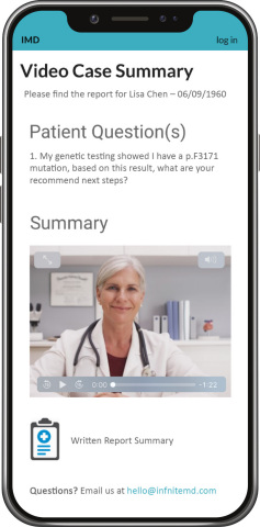 Asynchronous video case summaries allow leading physicians to provide second opinion advice in a pre-recorded format that can be securely viewed and shared at the consumer's convenience. (Photo: Business Wire)
