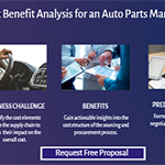 Cost benefit analysis for an auto parts manufacturer.