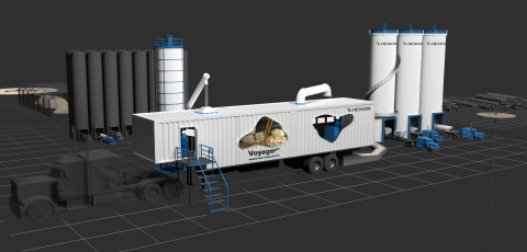 Hexion's Voyager(SM) mobile resin coating unit (Photo: Business Wire)