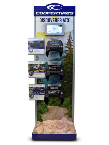 Cooper Tire's interactive consumer marketing display showcasing its Discoverer AT3™ line of tires has earned a Gold Award in the Specialty Retail & Service category of the national 2019 Shop! Outstanding Merchandising Achievement Awards. (Photo: Business Wire)