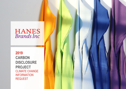 HanesBrands has voluntarily disclosed its carbon emissions and related information for the CDP 2019 Climate Change Report for the 10th year. The disclosure demonstrates progress toward the company's 2020 goals for use of renewable energy, total energy use and carbon emissions. (Photo: Business Wire)