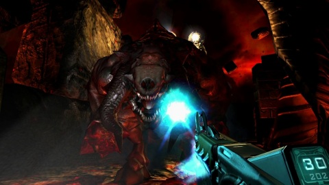 Celebrate DOOM's 25th anniversary with the release of the DOOM 3 game, available for the first time on a Nintendo system. In this critically acclaimed action-horror re-telling of the original DOOM game, players must battle their way through a demon-infested facility before entering the abyss to battle Hell's mightiest warrior – and put an end to the invasion. (Graphic: Business Wire)
