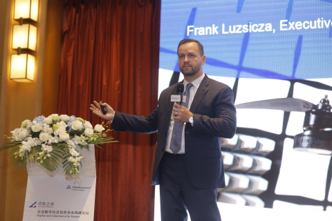 Frank Luzsicza, Executive Vice President of TÜV Rheinland Digital Transformation & Cybersecurity, unveiled the main contents of the white paper. (Photo: Business Wire)